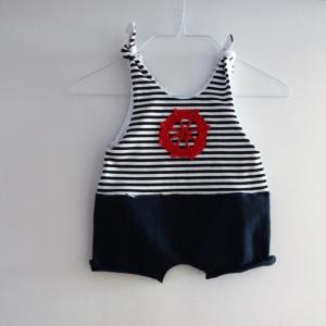 STEUERMANN  Baby Kind Overall Jumper Romper  vom zimtbienchen für Jungen und Mädchen