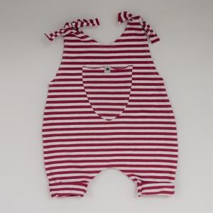 Baby Kind Overall Jumper Romper  Streifen aus Baumwolljersey vom zimtbienchen für Jungen und Mädchen  - Handarbeit kaufen