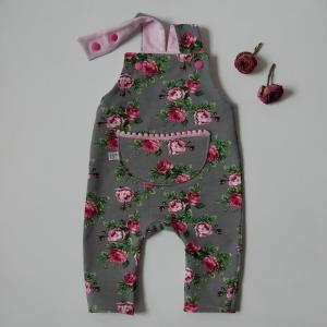 Latzhose Modell ROSE Jumper Spieler Romper für Baby und Kind vom zimtbienchen 44/98