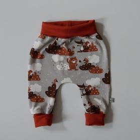Mitwachshöschen JOJO mit Fuchs und Bär von zimtbienchen Gr. 44 - 98  Baby / Kind