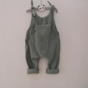 Latzhose Modell MATS dustymint Jumper Romper aus Jersey Cord für Baby und Kind vom zimtbienchen 50/104 - Handarbeit kaufen