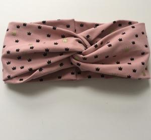 Turbanstirnband Modell BlingBling Haarband vom zimtbienchen  ab 48 cm Kopfumfang   - Handarbeit kaufen