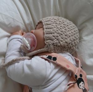 Babymütze Modell HYGGELIG Kindermütze  handgestrickt von zimtbienchen ab 0 - 12 Monate