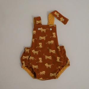 Latzhose  Modell LEOPOLD Jumper Spieler Romper für Baby und Kind vom zimtbienchen 50/98