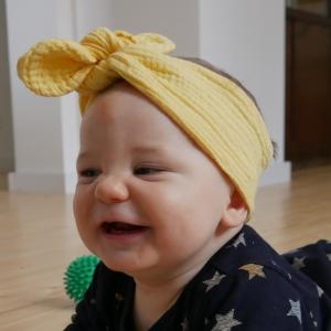 MUSSELIN Haarband Stirnband 3 Größen vom zimtbienchen Handarbeit für  Baby - Kind viele Farben