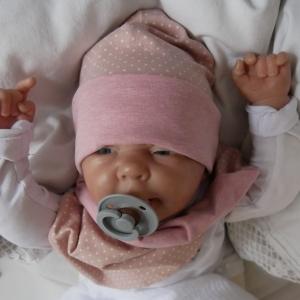 Wendebeanie mit PÜNKTCHEN Baby Kind Mützchen von zimtbienchen verschiedene Größen   - Handarbeit kaufen