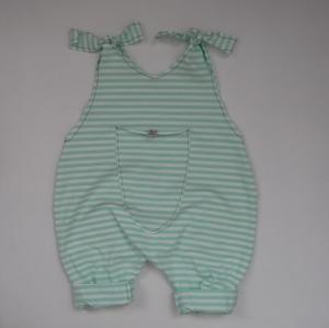 Baby Kind Overall Jumper Romper STREIFEN  3 Farben Baumwolljersey vom zimtbienchen 3 Farben Jungen und Mädchen
