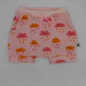 kurze Hose mit WÖLKCHEN handmade aus Musselin von zimtbienchen für Baby / Kind