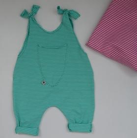 Baby Kind Jumper Romper TÜRKIS oder ROSA Baumwolljersey vom zimtbienchen Jungen und Mädchen  - Handarbeit kaufen