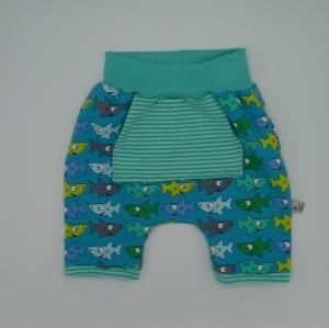 kurze Hose Shorts FISCHLI Handarbeit von zimtbienchen für Baby / Kind    - Handarbeit kaufen
