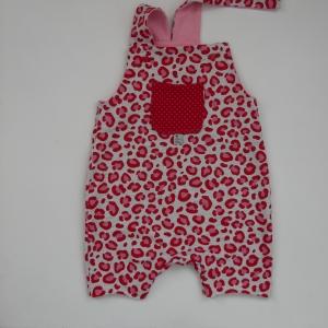 LEOPARD kurze  Latzhose Jumper im LEOprint für Baby und Kind vom zimtbienchen 44/98