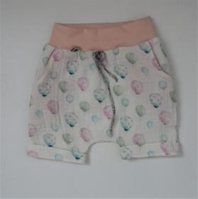 Shorti BALLON kurze Hose handmade aus Musselin von zimtbienchen für Baby / Kind  - Handarbeit kaufen