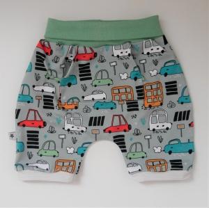 Shorti AUTO kurze Hose aus Jersey Handarbeit von zimtbienchen für Baby / Kind