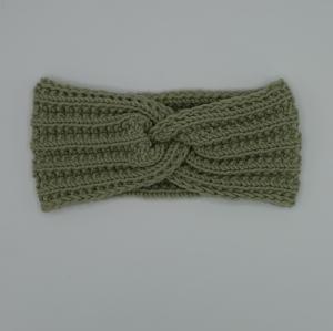 Mädchen Stirnband handgestrickt  CAROLIN  Turbanstirnband mit Knoten  zimtbienchen  - Handarbeit kaufen
