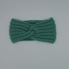Turbanstirnband handgestrickt  CAROLIN   Stirnband für Mädchen mit Knoten  von zimtbienchen   - Handarbeit kaufen
