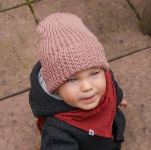 HIPSTER Beanie für Baby und Kind Mütze ALTROSA von zimtbienchen verschiedene Größen