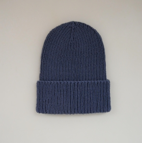 Hipster Beanie für Baby und Kind Mütze in Jeansblau von zimtbienchen verschiedene Größen  - Handarbeit kaufen