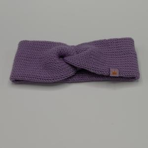 zimtbienchen Stirnband mit Twist handgestrickt  CAROLIN  double Stirnband für Mädchen