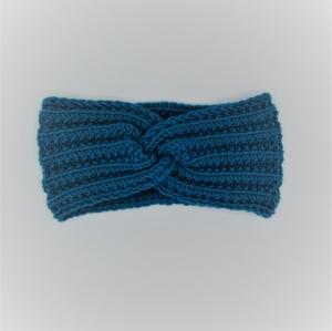 Stirnband handgestrickt  CAROLIN  Turban Stirnband für Mädchen mit Knoten  von zimtbienchen    - Handarbeit kaufen