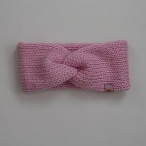 CAROLIN  double Stirnband für Mädchen Stirnband mit Twist handgestrickt   - Handarbeit kaufen