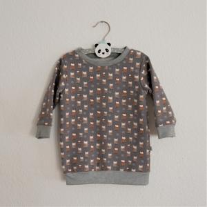 EULCHEN Oversize Shirt mit Langarm  Kind Handarbeit von zimtbienchen   - Handarbeit kaufen