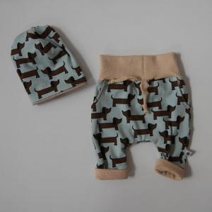 Neugeborenenset WALDI 2-teilig  Wendebeanie Pumphose für Baby GRöße 56 - 62 von zimtbienchen   - Handarbeit kaufen