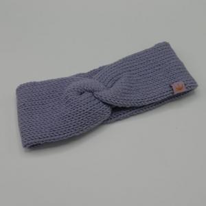 Dustyflieder zimtbienchen Stirnband mit Twist handgestrickt  CAROLIN  double Stirnband für Mädchen  - Handarbeit kaufen