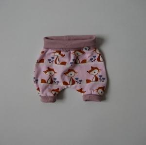 Pumphöschen FUCHS rosa für Frühchen handmade  BIOBaumwolle zimtbienchen Baby  - Handarbeit kaufen