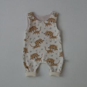 Neugeborenen Babystrampler LEOPARD auch für Frühchen handmade  BIOBaumwolle zimtbienchen Baby   - Handarbeit kaufen