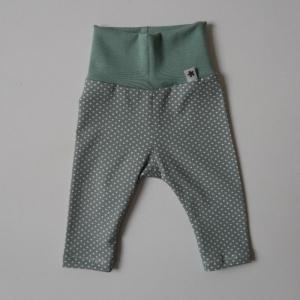 PÜNKTCHEN LEGGING aus Baumwolljersey vom zimtbienchen Gr. 50 - 68 Höschen Baby  - Handarbeit kaufen