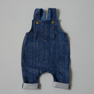 Latzhose Modell  DENIM Jumper Romper BIOjersey für Baby und Kind vom zimtbienchen 44 - 98