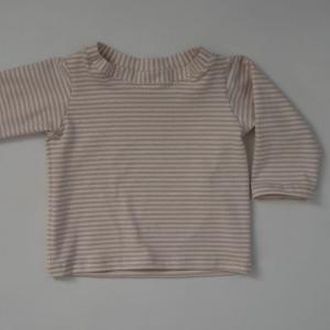 Baby STREIFEN Shirt mit Langarm  Handarbeit von zimtbienchen   - Handarbeit kaufen