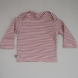 Baby STREIFEN in Puder Shirt Langarm  Handarbeit  zimtbienchen    - Handarbeit kaufen