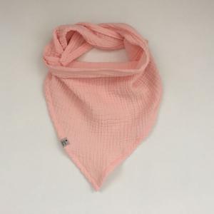 Dreieckstuch aus Musselin zartes ROSA Halstuch für Baby und Kind zimtbienchen   - Handarbeit kaufen