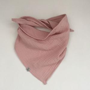 PUDERROSA Dreieckstuch aus Musselin Halstuch für Baby und Kind zimtbienchen    - Handarbeit kaufen