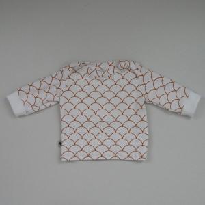 Langarm Shirt WELLEN Handarbeit  zimtbienchen    - Handarbeit kaufen