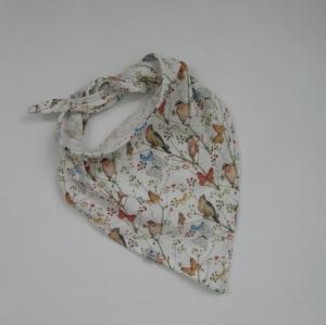 SCHMETTERLING und VÖGELCHEN Dreieckstuch aus Musselin Halstuch für Baby und Kind zimtbienchen   - Handarbeit kaufen