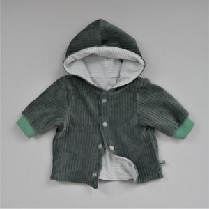 Babyjacke mit Kapuze DUSTYMINT aus CORDJERSEY von zimtbienchen Gr. 56 - 86  Baby  - Handarbeit kaufen