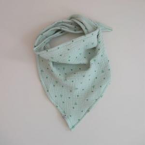 MINT Dreieckstuch aus Musselin Halstuch für Baby und Kind zimtbienchen     - Handarbeit kaufen