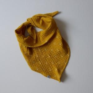 ANKER Dreieckstuch aus Musselin Halstuch für Baby und Kind zimtbienchen   - Handarbeit kaufen