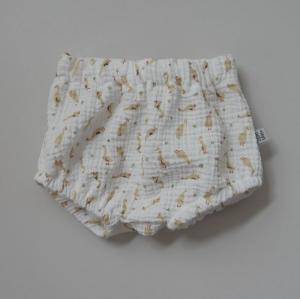 BUMMIE GÄNSCHEN Musselin Bloomers kurze Hose   von zimtbienchen für Baby / Kind   - Handarbeit kaufen