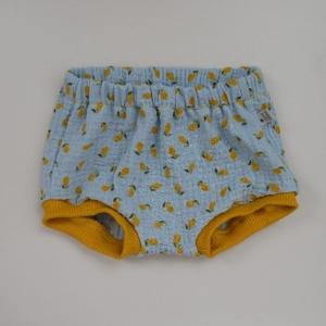 BUMMIE mit Zitronen Musselin Bloomers kurze Hose   von zimtbienchen für Baby / Kind