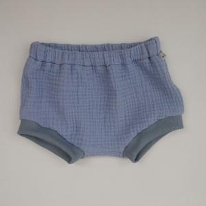 BUMMIE jeansblau Bloomers kurze Hose aus Musselin von zimtbienchen für Baby / Kind