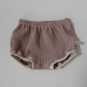BUMMIE taupe Bloomers kurze Hose aus Musselin von zimtbienchen für Baby / Kind   - Handarbeit kaufen