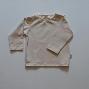 Langarmshirt BASIC offwhite unifarben Baby und Kind zimtbienchen Handarbeit - Handarbeit kaufen