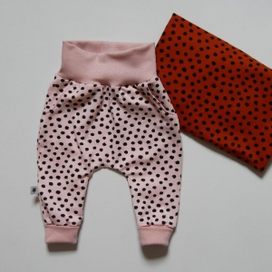 Babyhose PÜNKTCHEN Mitwachshöschen zwei Farben Baby Kind zimtbienchen  kaufen - Handarbeit kaufen