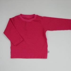 PINK mit Streifen BASIC  Langarmshirt Baby Kind zimtbienchen Handarbeit  kaufen - Handarbeit kaufen