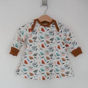 PUSTEBLUME Kleid Baby / Kind mit Langarm Handarbeit aus BIOJersey vom zimtbienchen  - Handarbeit kaufen