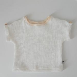 MUSSELIN BASIC  Kurzarm Shirt 5 Farben Baby Kind zimtbienchen Handarbeit  kaufen   - Handarbeit kaufen