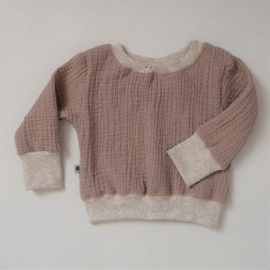 MUSSELIN Sweater mit Langarm Baby Kind Handarbeit von zimtbienchen    - Handarbeit kaufen